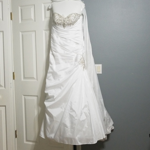 695a0f82c4c David s bridal wedding dress strapless
